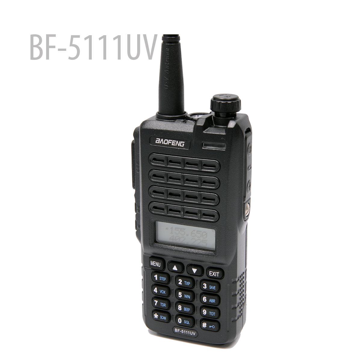 BaoFeng BF-5111UV Walkie Talkie CB Radio 128CH 5W Dual Band Dual PTT Portable Radio FM flashlightTransceiver