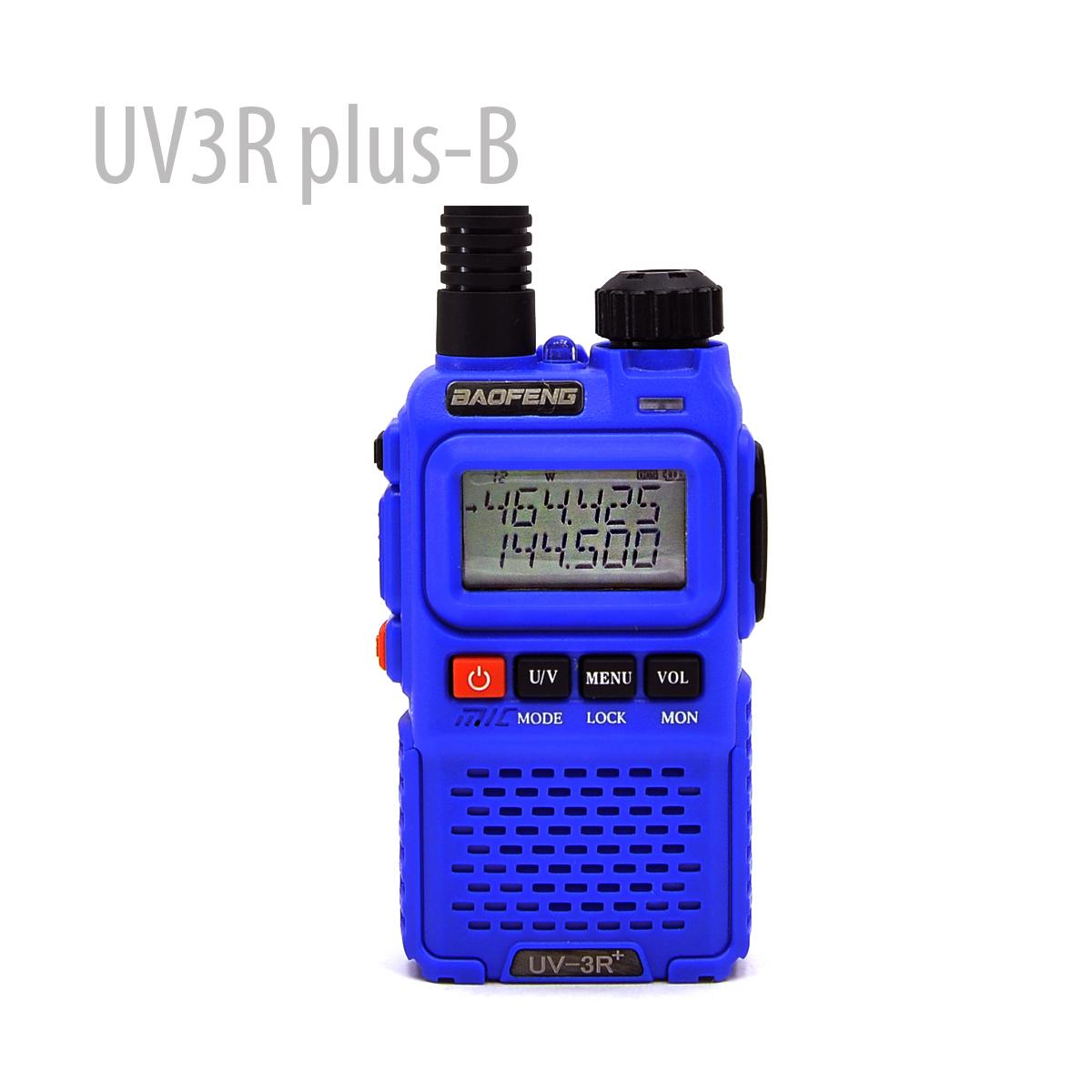 BAOFENG UV-3R Plus BLUE 136-174/400-470Mhz