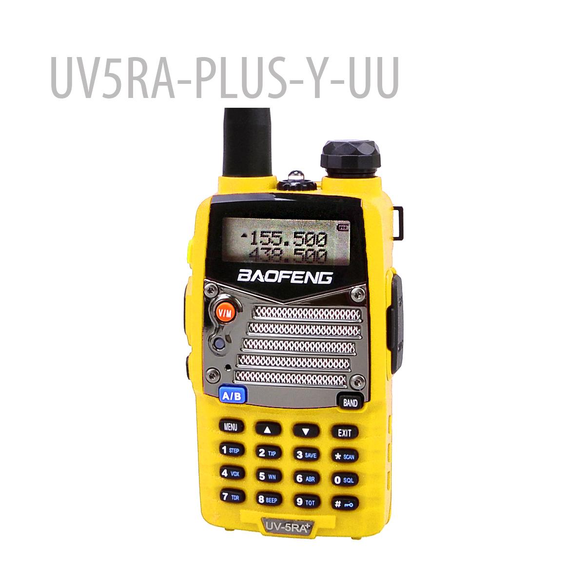 BAOFENG UV5RA-PLUS-YELLOW-UU 136-174/400-520MHZ RADIO