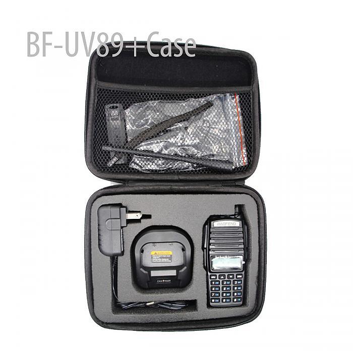 BAOFENG BFUV89 136-174/400-520MHZVHF/UHFDUAL-BAND TWO WAY RADIO + Case